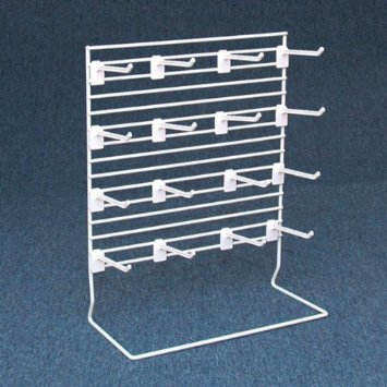 COUNTER TOP SLOTTED GRID DISPLAY WHITE-0