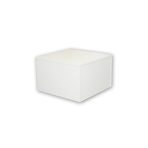 WOOD BASE SQUARE 16X16 WHITE-0