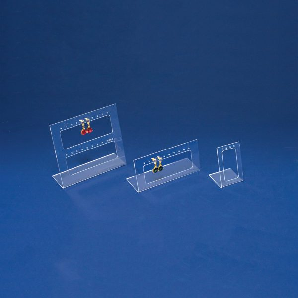 SET OF 3 FROSTED ACRYLIC EARRING DISPLAY -0