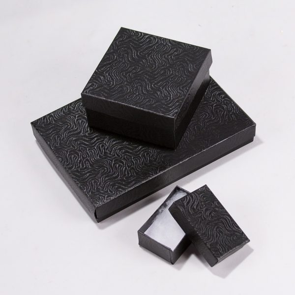 Jewelry Gift Box Black 3x3