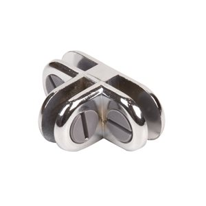 3-WAY CHROME GLASS CONNECTOR-0