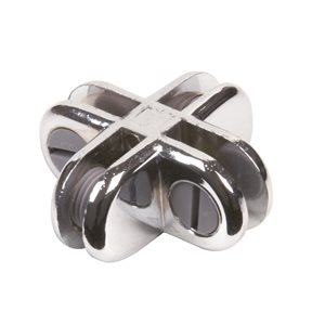 4-WAY CHROME GLASS CONNECTOR-0