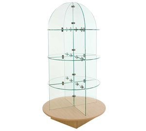 QUARTER ROUND GLASS MERCHANDISER-0