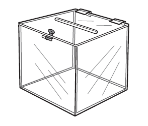 BALLOT BOX WITH LOCK -0